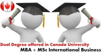 Dual degree MBA and MSc International Business offered in Vancouver Canada