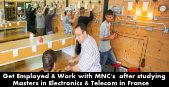 Apply in France for MSc. in Electronics & IT programs and Get Two Year Work Visa