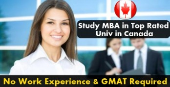 Study MBA in Canada without work experience and GMAT