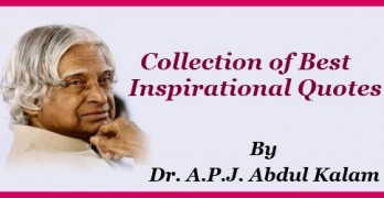 Inspirational Quotes by APJ Abdul Kalam for Students