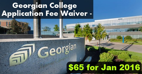 Georgian college Application Fee