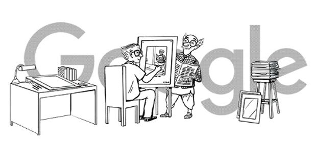google pays tribute to legendary cartoonist rk laxman with doodle