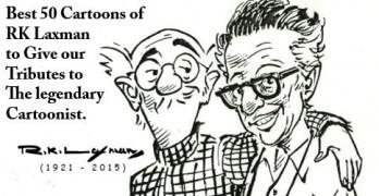 RK Laxman Cartoons Collection