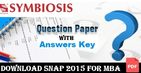 SNAP 2015 Question Paper and Answer Key