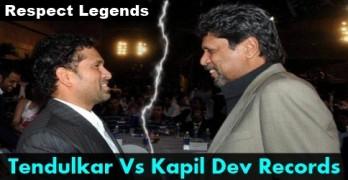 Sachin Tendulkar vs Kapil Dev Records