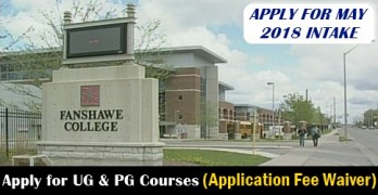 Apply For May 2018 Intake In Fanshawe College