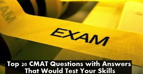 CMAT Mock Test Papers with Answers - Top 20