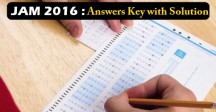 JAM 2016 Answer Key
