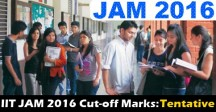 JAM 2016 Cutoff Expected