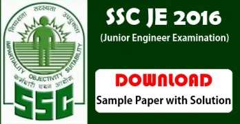SSC Junior Engineer Question Paper with Answers 2015