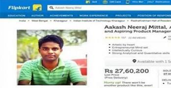 IIT Student of India Sells Himself on E-Commerce Website Flipkart