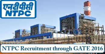 NTPC Recruitment through GATE 2016