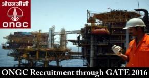 ONGC Recruitment through GATE 2016