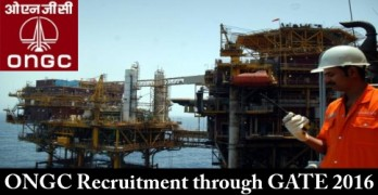 ONGC Recruitment through GATE 2016