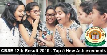 CBSE 12th Result 2016 Achievements