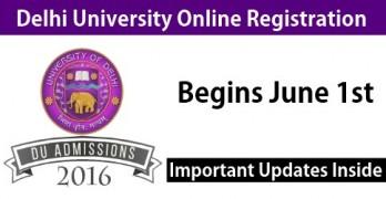 Delhi University Online Admission – Start June 1