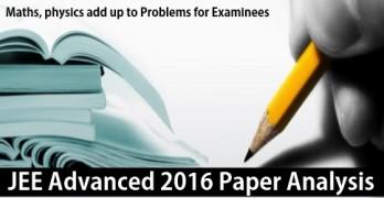 JEE Advanced 2016 Analysis