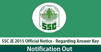 SSC JE Exam Official Notice