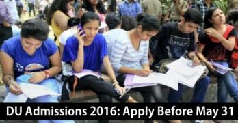 University of Delhi Admissions 2016