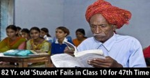 82-year-old 'student' fails class 10 exam for 47th time