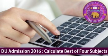 Calculation of Best of Four Percentage For DU Admission