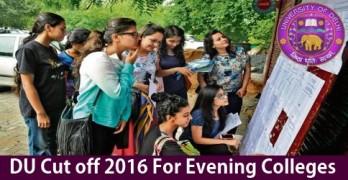 DU Cutoff Evening Colleges