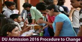DU Admission Procedure to Change