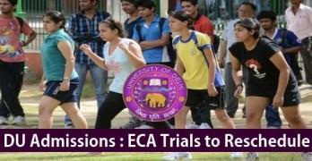 DU Declares ECA Dates