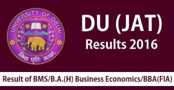 DU JAT Results 2016