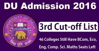 DU Third Cut off 2016