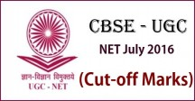 UGC NET July 2016 Cutoff