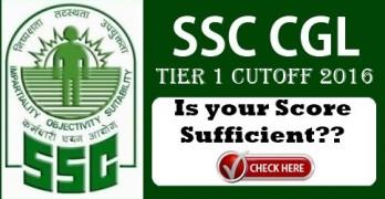 SSC CGL Tier 1 Cutoff 2016