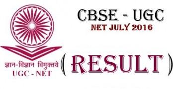 UGC NET Result 2016