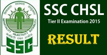 SSC CHSL Tier II Result 2015