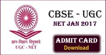 CBSE UGC NET 2017 Admit Card