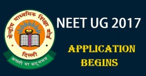 NEET UG 2017 Application
