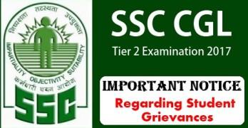 SSC CGL 2017 Tier II Exam Notice