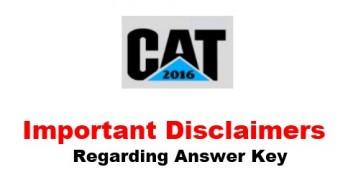 CAT 2016 Answer Key