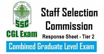 SSC CGL 2016 Tier 2 Response Sheet