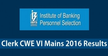 IBPS Clerk Mains 2016 Result