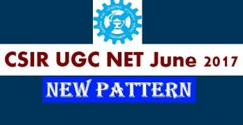 CSIR UGC NET June 2017 Paper Pattern