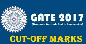 GATE 2017 Cutoff List