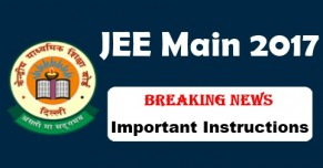 JEE Main 2017 Important Instructions