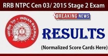 RRB NTPC Mains Result