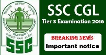 SSC CGL 2016 Tier 3 Exam