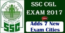 SSC CGL 2017 New Exam Cities