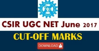 CSIR NET June 2017 Cut Off