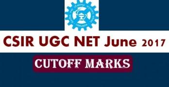 CSIR NET June 2017 Cut Off