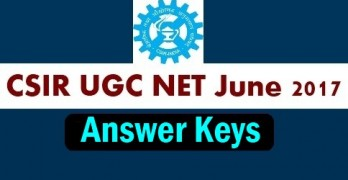 CSIR UGC NET June 2017 Answer Key