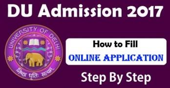 DU Registration Form 2017